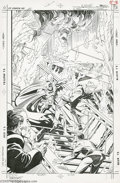 Original Comic Art:Covers, Mark Bright and Steve Mitchell - Batman #432 Cover Original Art(DC, 1989). Batman jumped from the fire into the frying pan ...
