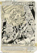 Original Comic Art:Splash Pages, Pat Broderick and Rodin Rodriquez - The Fury of Firestorm #6, page1 Splash Page Original Art (Marvel, 1982). The Pied Piper...