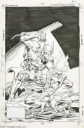 Original Comic Art:Covers, Joe Brozowski and Sam de la Rosa - Firestorm the Nuclear Man #69Cover Original Art (DC, 1988). The Zuggernaut has the upper...