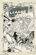 Original Comic Art:Covers, Rich Buckler and Frank Giacoia - Justice League of America #156Cover Original Art (DC, 1978). The five living gods of Ocean...