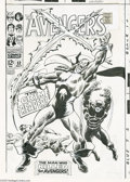 Original Comic Art:Covers, John Buscema - Avengers #52 Cover Original Art (Marvel, 1968). TheGrim Reaper has claimed victory over Goliath, Wasp, and H...