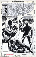 Original Comic Art:Covers, Sal Buscema - Spectacular Spider-Man #134 Cover Original Art(Marvel, 1988). Crazed ex-SHIELD agent Stan Carter, who became ...