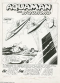 Original Comic Art:Splash Pages, Nick Cardy - Aquaman #11, Splash Page 1 Original Art (DC, 1963).Aquaman, Aqualad, and the newly-introduced Mera dodge an as...