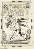 "Original Comic Art:Covers, Nick Cardy - Action Comics #438 Cover Original Art (DC, 1974). Loisgoes berserk and becomes... ""A Monster Named Lois Lane!""..."