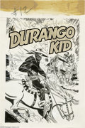 Original Comic Art:Covers, Joe Certa (attributed) - Durango Kid #12 Cover Original Art(Magazine Enterprises, 1951). It took grit, guts, and men like S...