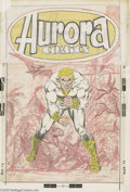 Original Comic Art:Covers, Dave Cockrum - Aurora Comics/Lord Dinosaur Unpublished CoverOriginal Art (Aurora, 1973). This one's a real puzzler. Near as...