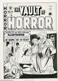 Original Comic Art:Covers, Johnny Craig - Vault of Horror #14 Cover Original Art (EC, 1950). Here's a cover drawn to terrorize all you fan-addicts...
