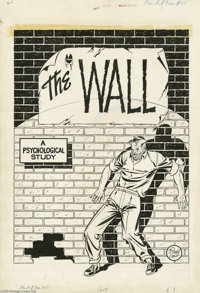"""Johnny Craig - Haunt of Fear #15 (#1) Complete 8-page Story """"The Wall"""" Original Art (EC, 1950). From the very..."""