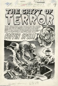 """Original Comic Art:Complete Story, Jack Davis - Vault of Horror #38 Complete 7-page Story """"Coffin Spell"""" Original Art (EC, 1954). To quote the Crypt-Keeper, """"G..."""