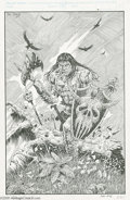 Original Comic Art:Splash Pages, Dan Day and David Day - The Conan Saga #66 Inside Back CoverOriginal Art (Marvel, 1992). Hither comes the black-haired, sul...