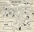 Original Comic Art:Covers, Sam Schwartz (attributed) - Archie, Jughead, and Reggie CoverOriginal Art (Archie, undated). The three amigos -- Archie, Ju...
