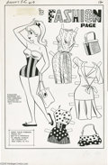 Original Comic Art:Splash Pages, Dan DeCarlo (attributed) - Archie's Pals 'n' Gals #19 Fashion PagePin-Up Original Art (Archie, 1962). Betty flaunts her bea...
