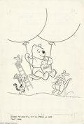 Original Comic Art:Covers, John Carey - Winnie the Pooh #1 Cover Original Art (Gold Key,1976). Here's a hunny of a cover from 1976, featuring the most...