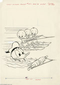 Original Comic Art:Covers, John Carey - Walt Disney's Comics and Stories #457 Cover OriginalArt (Gold Key/Whitman, 1978). Uncle Donald seems to be hav... (2items)