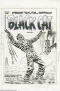 Original Comic Art:Covers, Lee Elias - Black Cat Mystery #44 Cover Original Art (Harvey,1953). Steady yourself for the impact of Lee Elias' oily illus...