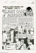 Original Comic Art:Splash Pages, George Evans - Vault of Horror #33 Splash Page 1 Original Art (EC,1953). George Evans' art had an understated quality that ...