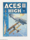 "Original Comic Art:Covers, George Evans - Aces High #7 Cover Specialty Piece Original Art(1990). EC's ""New Direction"" title Aces High was a dream ... (2items)"