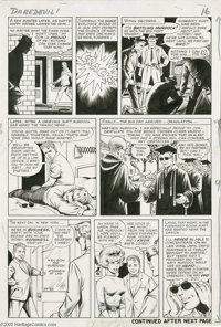 Bill Everett - Daredevil #1, page 13 Original Art (Marvel, 1964). Events moved fast in the fabulous first issue of Dared...