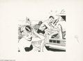 Original Comic Art:Sketches, Lou Fine - Advertising Illustration Original Art (undated). Lou Fine's mastery of figure drawing was spotlighted in this scu...