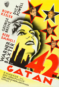 Movie Posters:Musical, 42nd Street (Warner Brothers, 1933). Swedish One S...