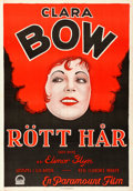 "Movie Posters:Comedy, Red Hair (Paramount, 1928). Swedish One Sheet (27.5"" X 39.5"").. ..."