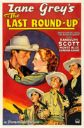 "Movie Posters:Western, The Last Round-Up (Paramount, 1934). One Sheet (27"" X 41"").. ..."