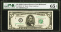 Fr. 1963-E* $5 1950B Federal Reserve Note. PMG Gem Uncirculated 65 EPQ