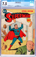 Golden Age (1938-1955):Superhero, Superman #4 (DC, 1940) CGC VF- 7.5 Off-white to white pages....