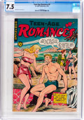 Golden Age (1938-1955):Romance, Teen-Age Romances #9 (St. John, 1950) CGC VF- 7.5 Off-white to white pages....