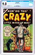 Golden Age (1938-1955):Humor, Crazy #6 (Atlas, 1954) CGC VF/NM 9.0 Cream to off-white pages....