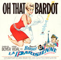 "Movie Posters:Foreign, La Parisienne (United Artists, 1958). Six Sheet (79.5"" X 78"").. ..."