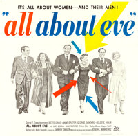 "All About Eve (20th Century Fox, 1950). Six Sheet (80.5"" X 79"")"