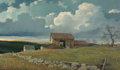 19th Century European, Eric Sloane (American, 1905-1985). Connecticut Spring. Oilon board. 41-1/4 x 71-1/2 inches (104.8 x 181.6 cm). Signed a...