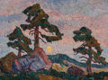 Fine Art - Painting, American, Birger Sandzén (American, 1871-1954). Sunset, circa 1923.Oil on canvas. 18 x 24 inches (45.7 x 61.0 cm). Signed lower l...