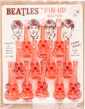 Music Memorabilia:Memorabilia, Beatles Extremely Rare Complete Counter Display of Pin-Up Guitars Circa 1964 (US)....