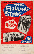 Music Memorabilia:Posters, Rolling Stones Hara Arena Concert Poster (1964). Extremely Rare....