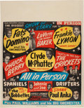 Music Memorabilia:Posters, Buddy Holly & The Crickets/Chuck Berry/Fats Domino Biggest ShowOf Stars Concert Poster (Super Attractions Present, 1957). Ext...