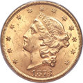 Liberty Double Eagles, 1873 $20 Open 3 MS64 PCGS Secure....