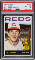 Baseball Cards:Singles (1960-1969), 1964 Topps Pete Rose #125 PSA NM-MT 8. For basebal...