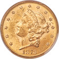 Liberty Double Eagles, 1873 $20 Open 3, Doubled Die Obverse, FS-101, MS63+ PCGS Secure. CAC....