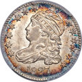 Bust Dimes, 1827 10C Pointed Top 1, JR-11, R.2, MS64+ PCGS Secure....
