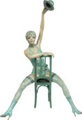 Music Memorabilia:Original Art, Liza Minnelli Cast Metal Statue by Gina Lollobrigida (2002)....