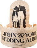 Music Memorabilia:Memorabilia, John and Yoko Apple Records Wedding Album Ultra-Rare Record Store Promotional Display....