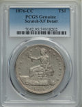 Trade Dollars: , 1876-CC T$1 -- Scratch / Rim Dent -- PCGS Genuine. XF Details. NGC Census: (5/124). PCGS Population: (20/167). CDN: $1,000 ...