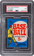 Baseball Cards:Unopened Packs/Display Boxes, 1969 Topps Baseball First Series Wax Pack PSA NM 7. ...