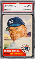 Baseball Cards:Singles (1950-1959), 1953 Topps Mickey Mantle #82 PSA VG-EX 4 - Attractively CenteredExample!...