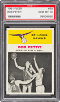 Basketball Cards:Singles (Pre-1970), 1961 Fleer Bob Pettit IA #59 PSA Gem Mint 10 - Pop Three....