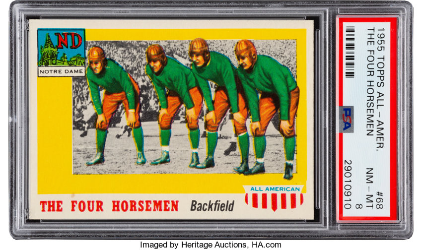 1955 Topps All-American The Four Horsemen #68 PSA NM-MT 8     | Lot