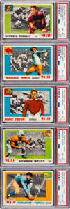 Football Cards:Singles (1950-1959), 1955 Topps All-American PSA NM-MT+ 8.5 Collection (5)....