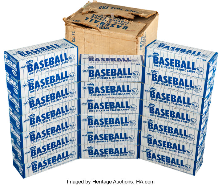 1982 Fleer Baseball Vending Case With 20 Boxes Cal Ripken